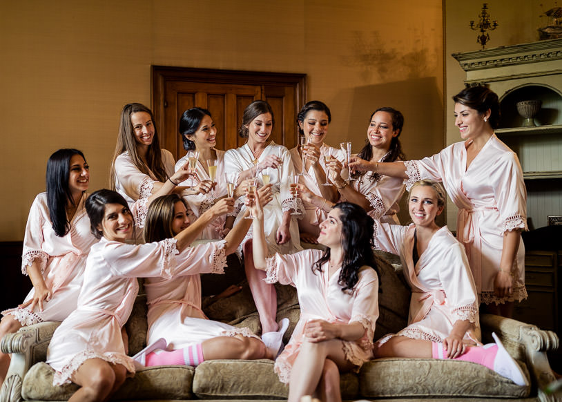 Chateau Challain bride and bridesmaids - KR