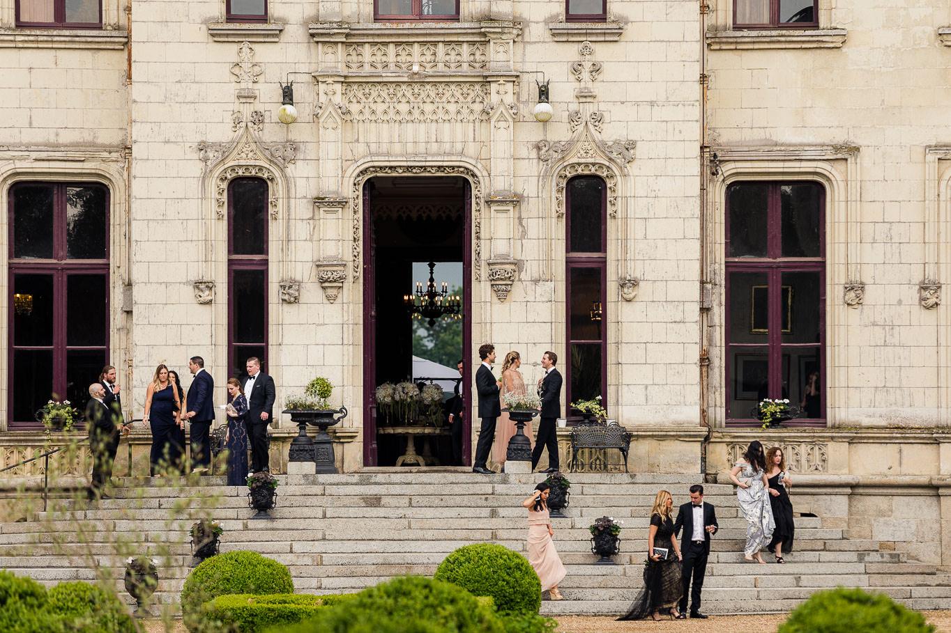 Chateau Challain guests entrance - KR