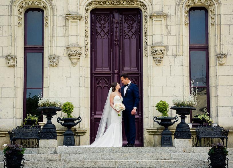 Chateau Challain main entrance wedding - KR