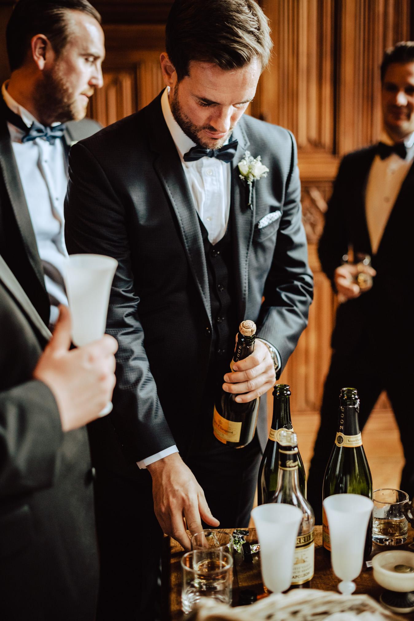 bestman champagne wedding flavio bandiera