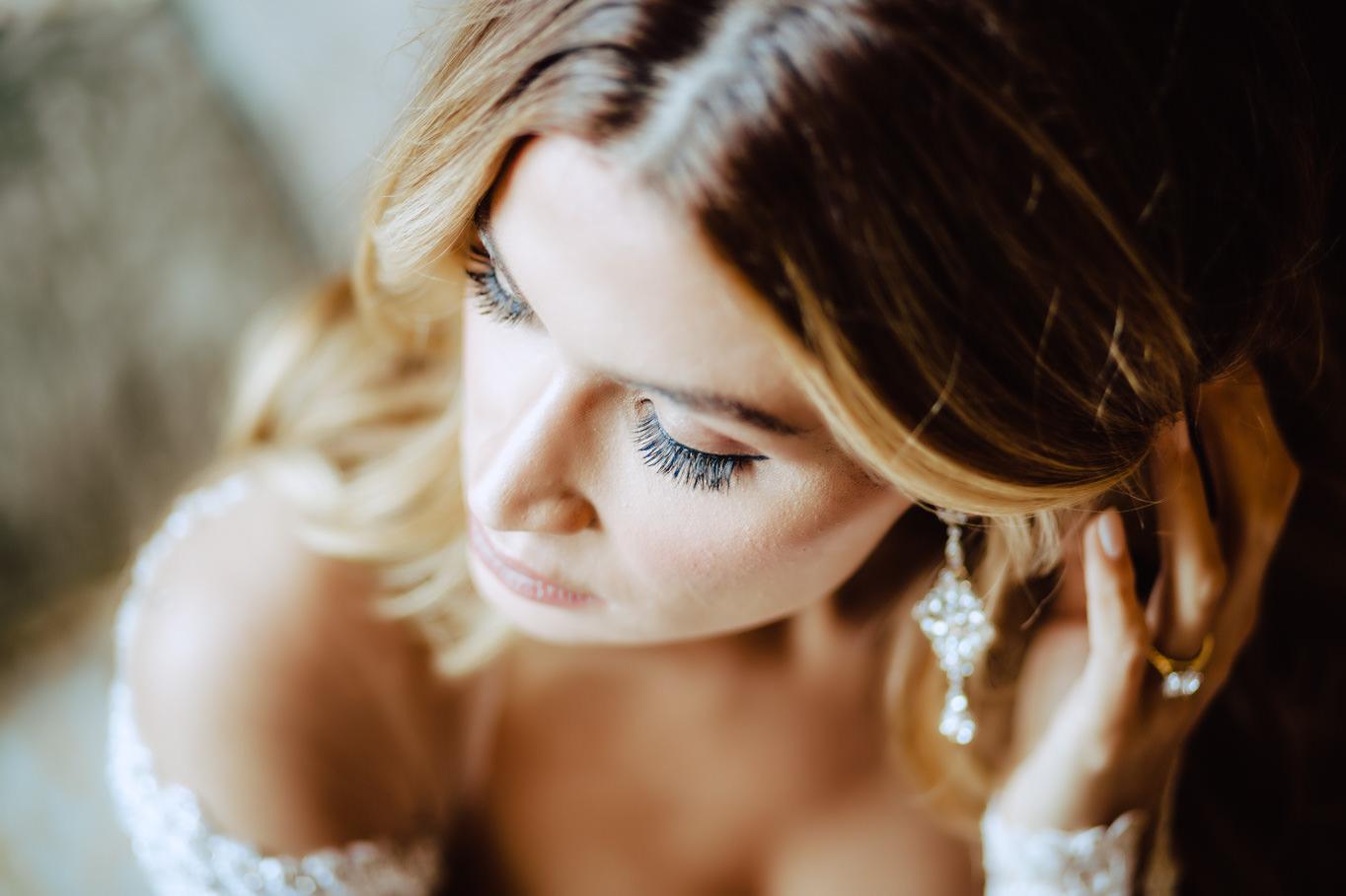 bride eyelashes wedding flavio bandiera