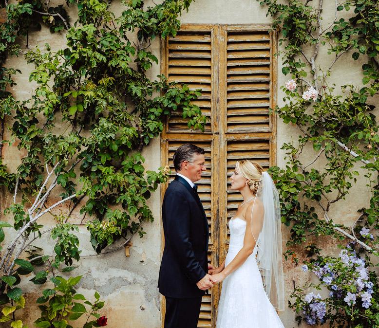 bride groom portrait lake como wedding