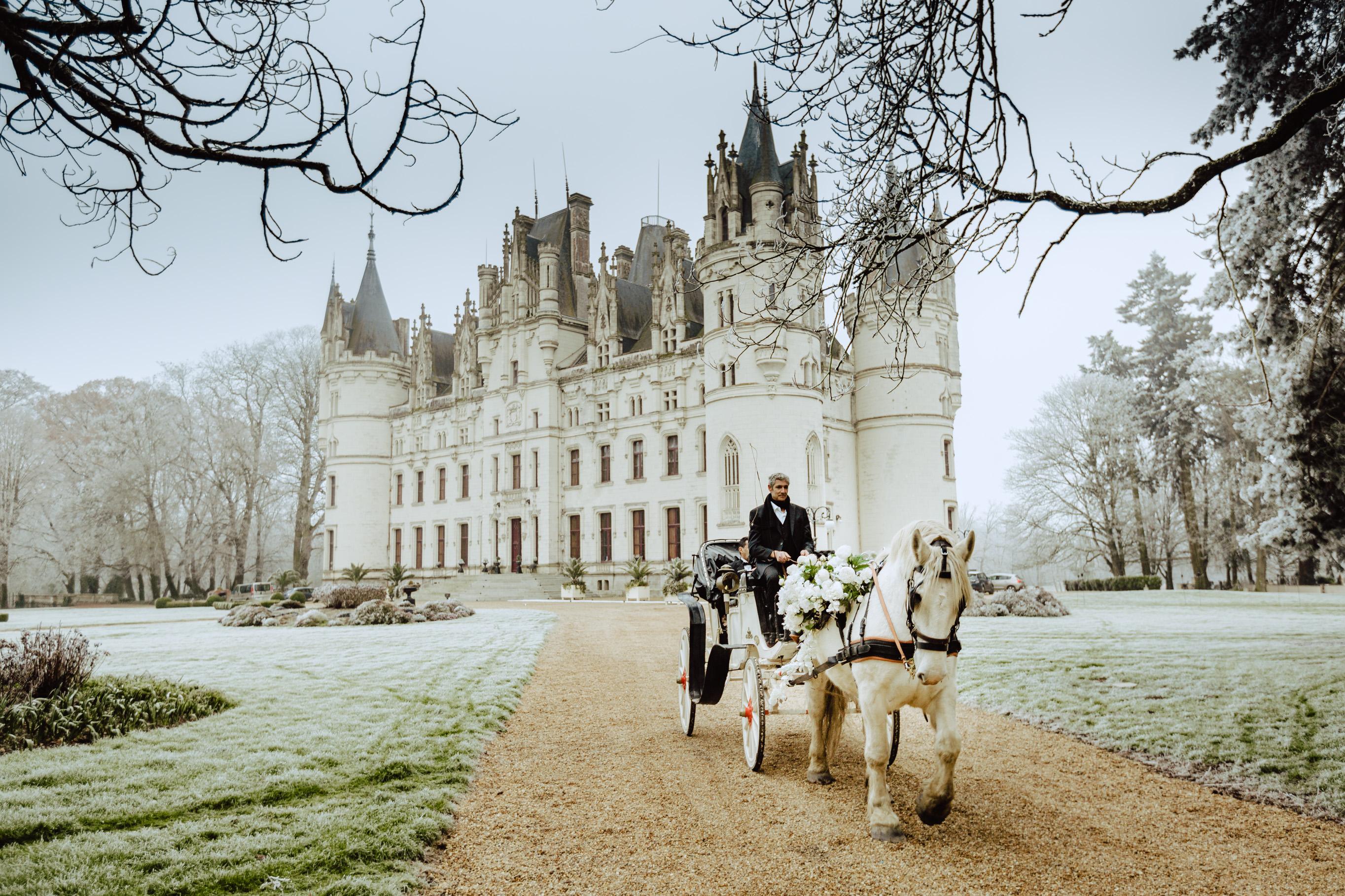 castle loire chateau challain wedding photo