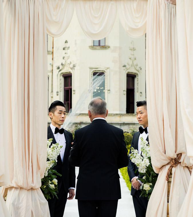 ceremony setting chateau