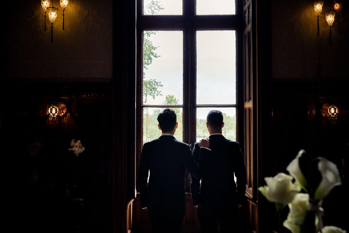 chateau challain interior same sex wedding