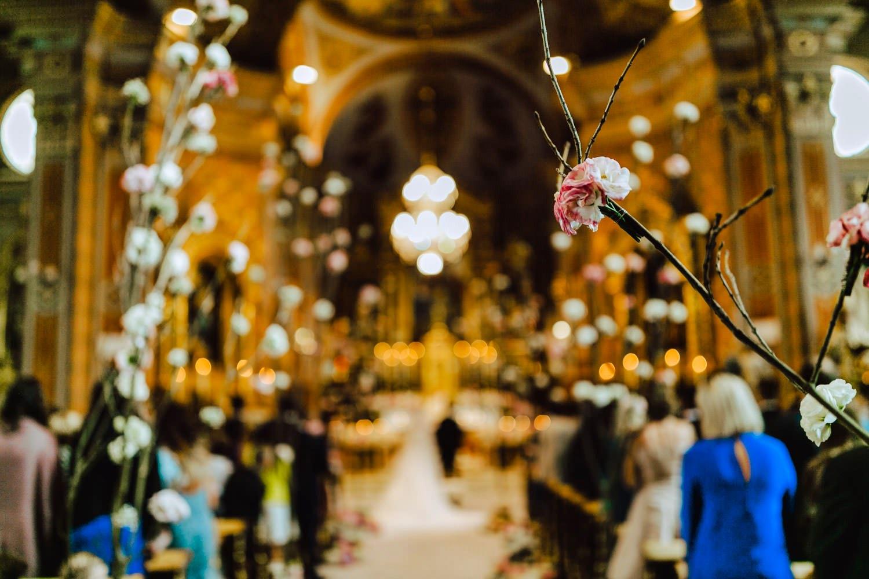 church setting wedding ortisei