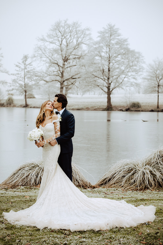 couple frozen lake chateau challain