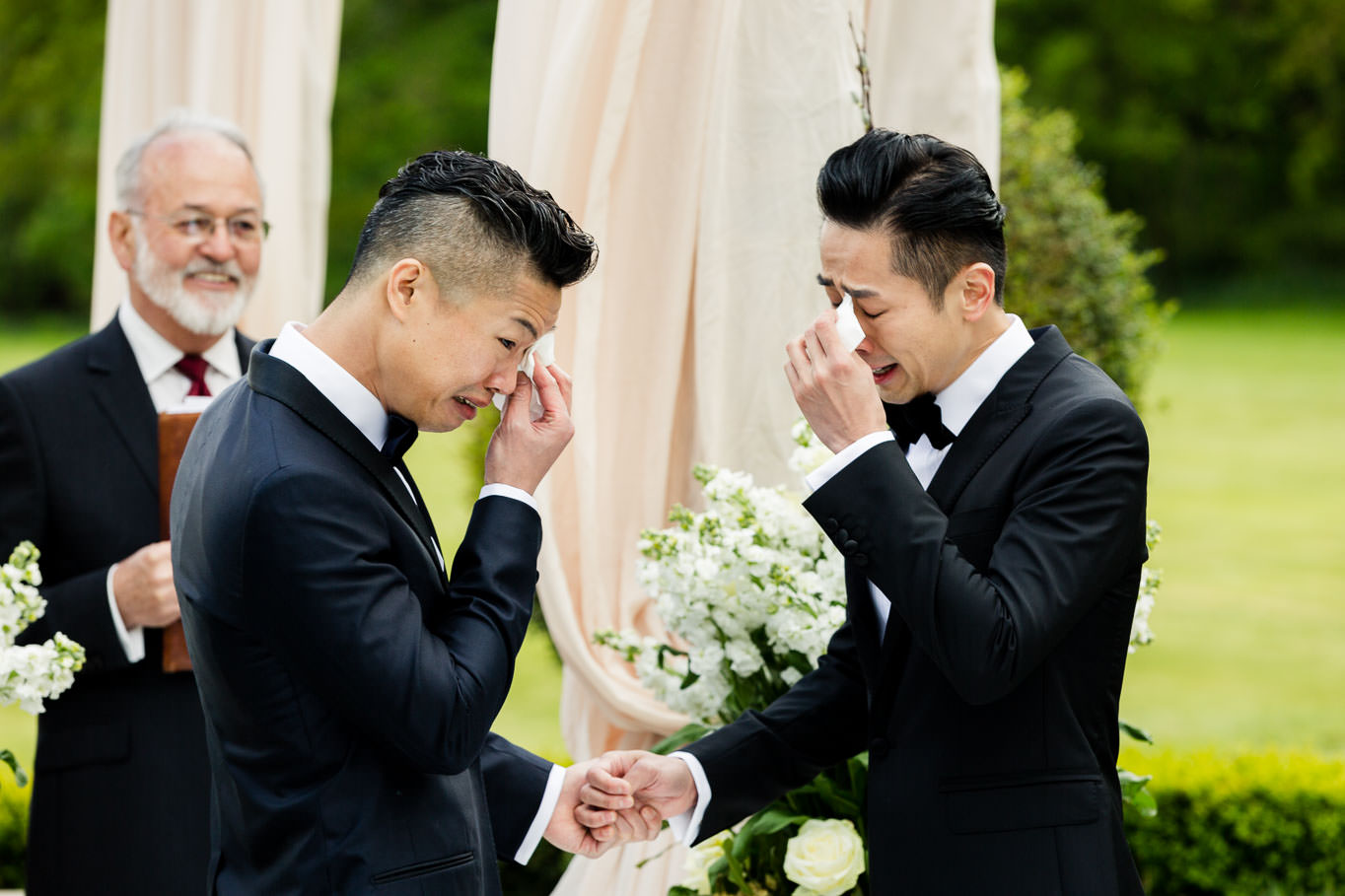 crying at the ceremony same sex wedding
