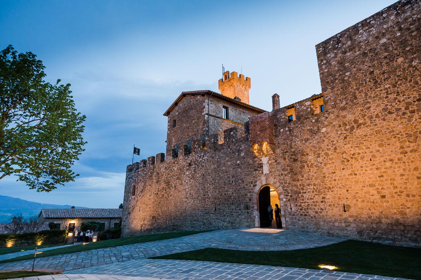 exterior castello banfi montalcino wedding