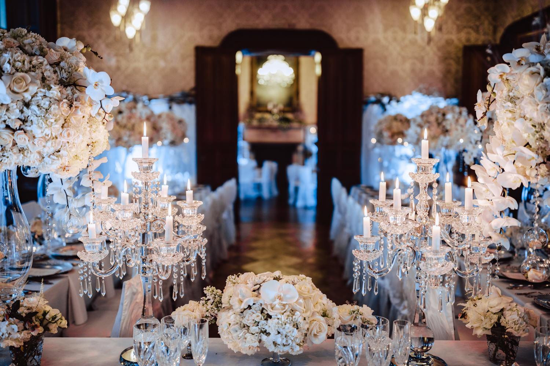 flower arrangements main wedding table chateau challain