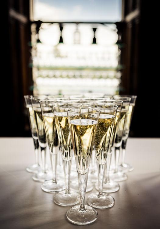 glasses wedding reception
