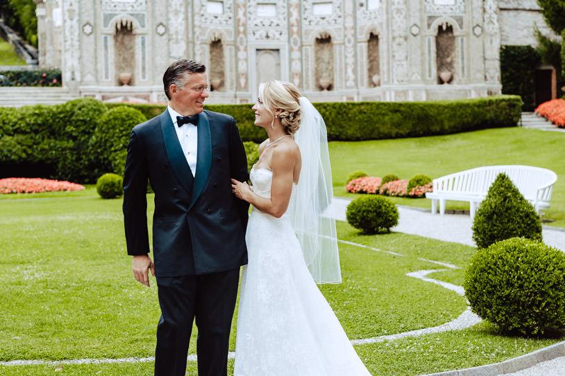 groom bride at first look lake como villa d'este