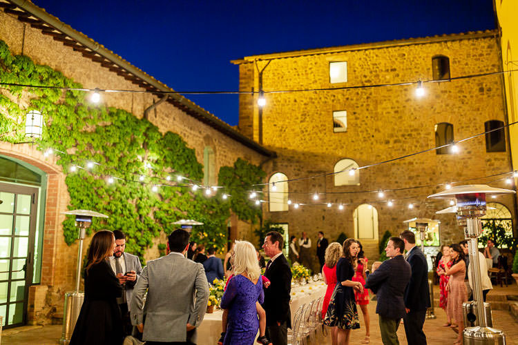 guests rehearsal dinner castello banfi