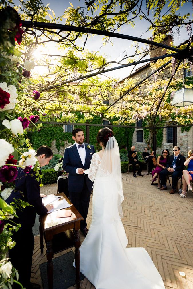 promise castello di montalcino wedding
