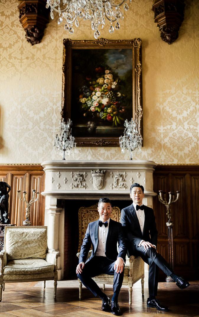 same sex portrait wedding