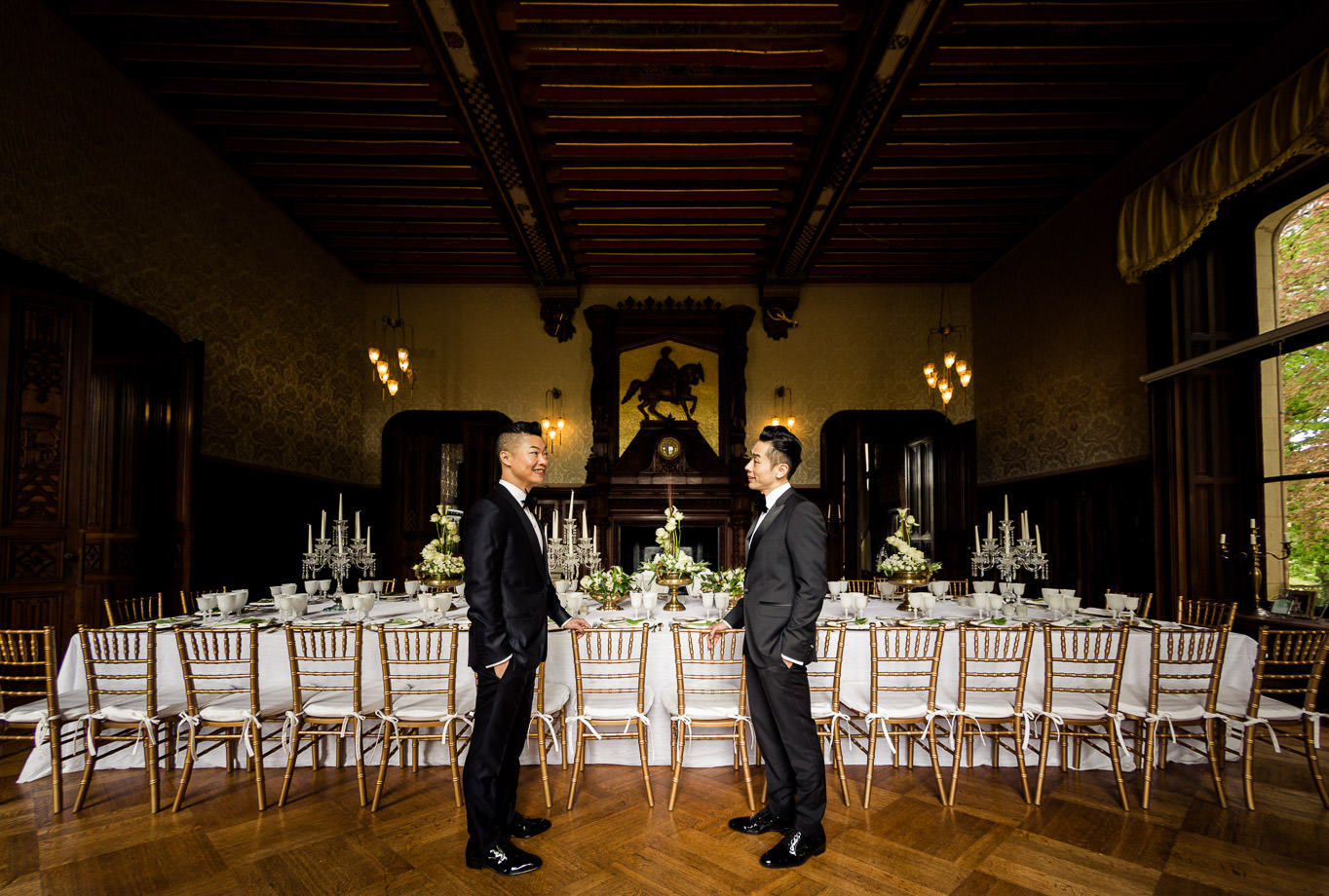same sex wedding chateau setting