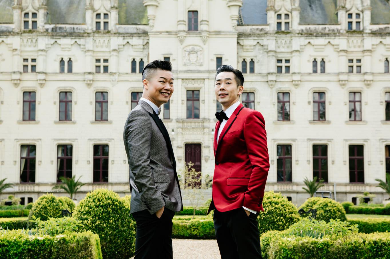 same sex wedding chateau