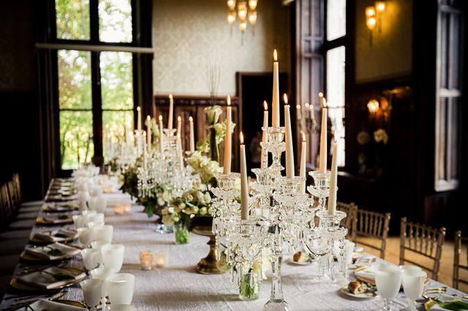 setting table reception wedding same sex