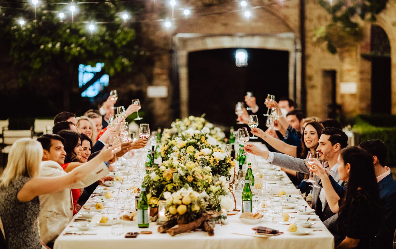 toast rehearsal dinner castello banfi