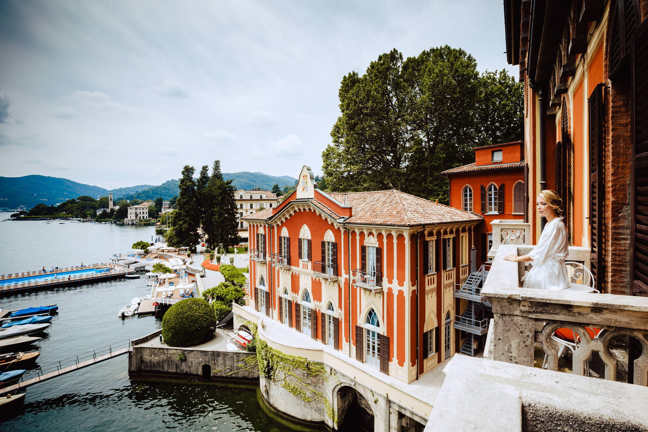 view from bride room villa d'este lake como
