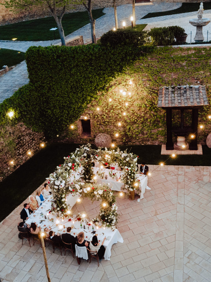 wedding dinner castello di montalcino