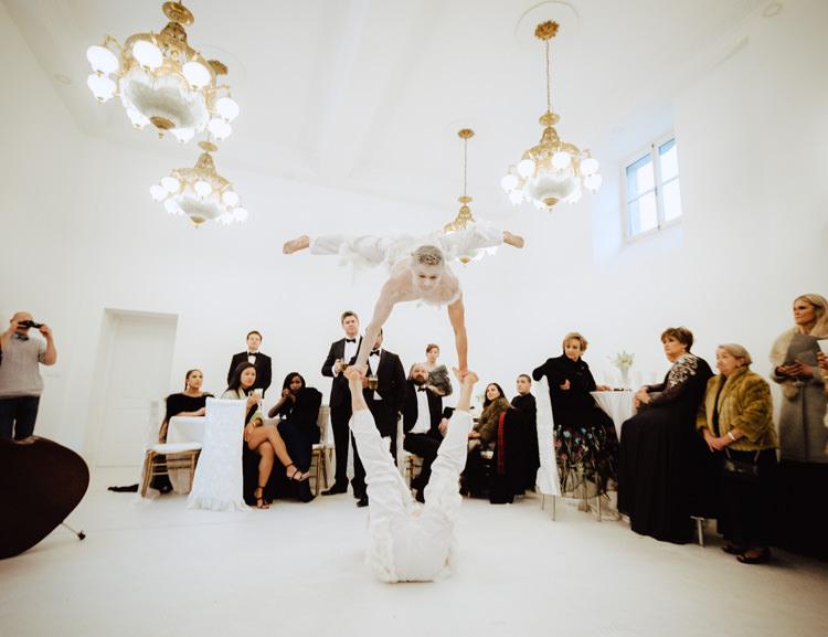 wedding show guests enjoying