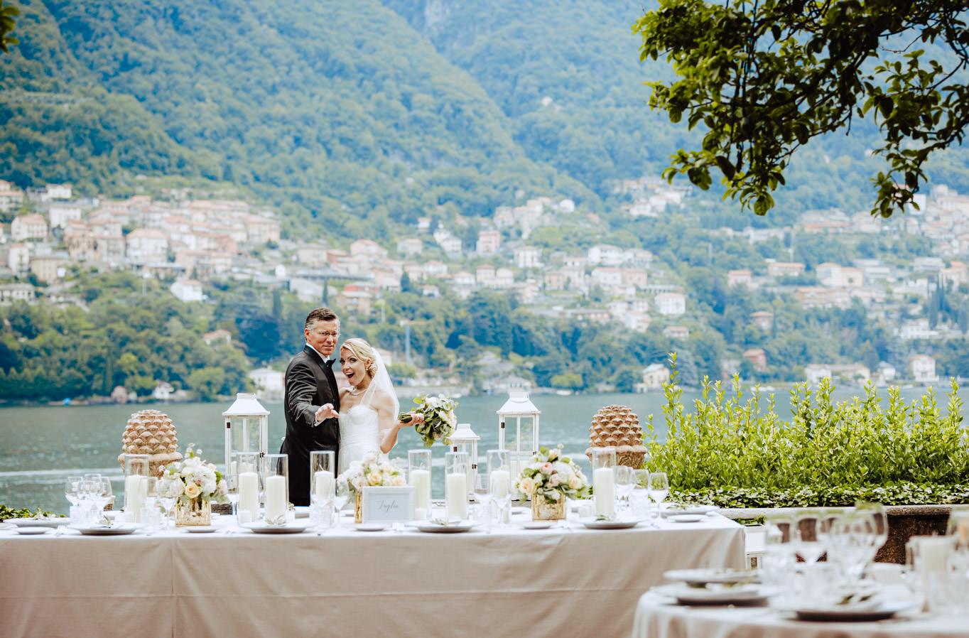 wedding table villa regina teodolinda lake como