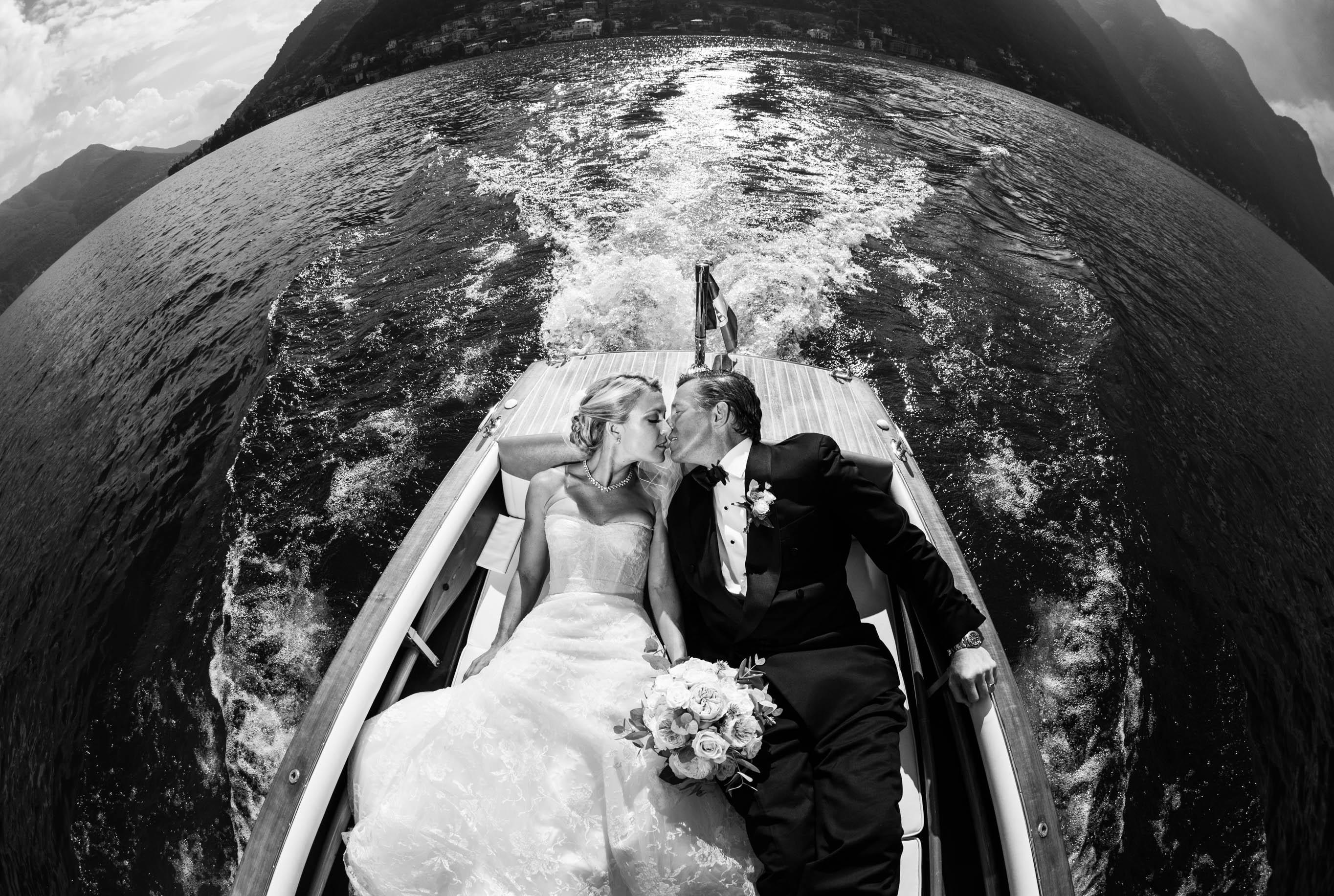 Lake Como Wedding Boat