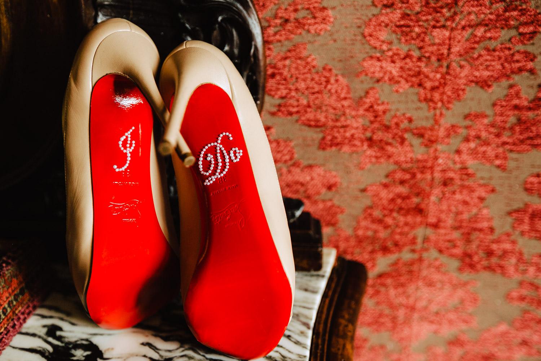 bride shoes loboutin chateau challain
