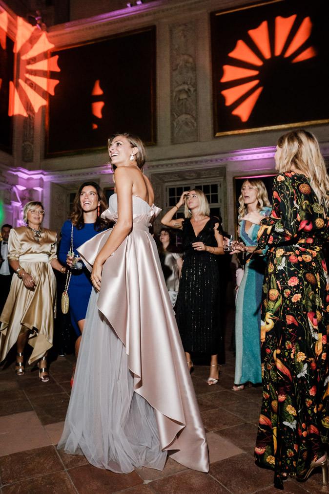 cristina chiabotto second dress wedding day