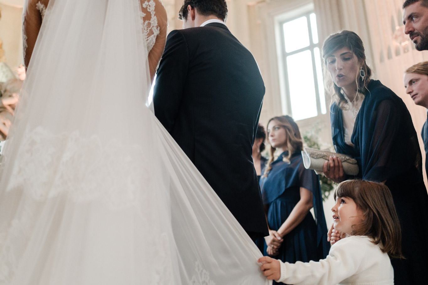 cristina chiabotto wedding ceremony with niece