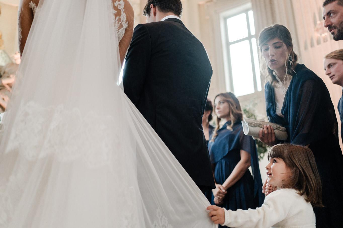 cristina chiabotto wedding ceremony with niece