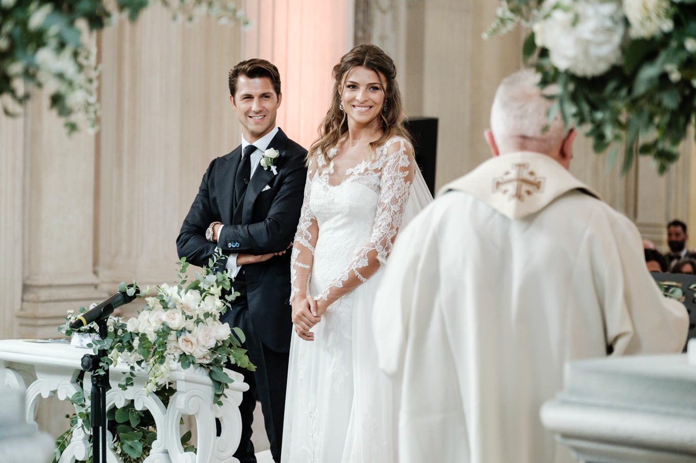 cristina chiabotto wedding ceremony with priest