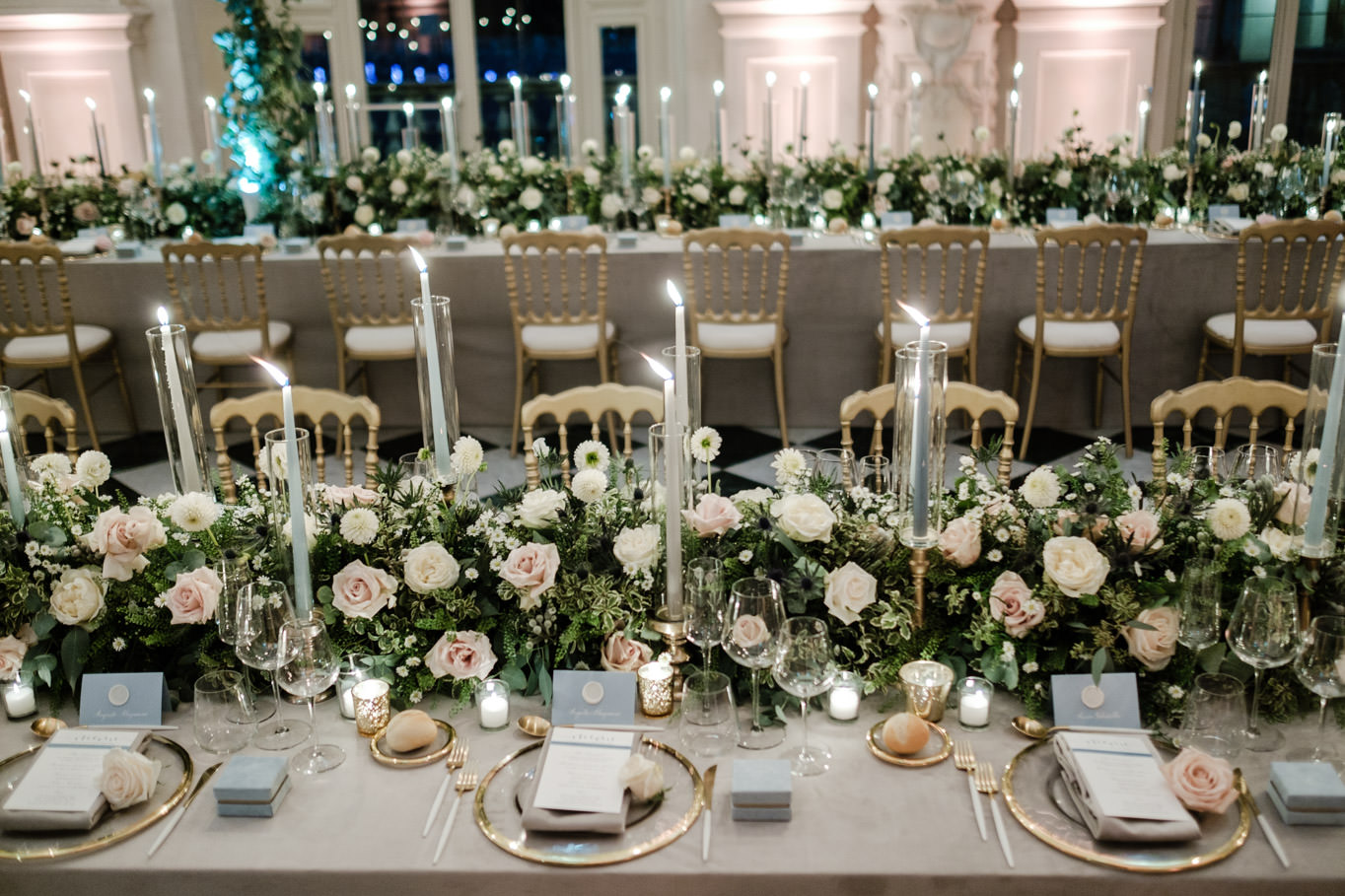 detail table setting wedding reggia di venaria reale