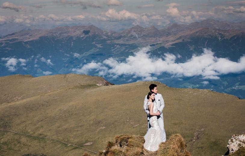dolomites couple prewedding