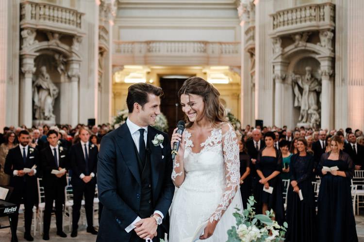 groom bride wedding ceremony