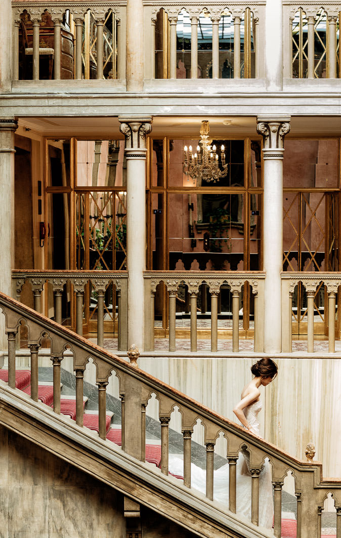 hotel danieli coupe pre-wedding bride