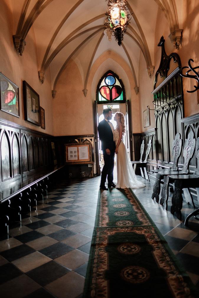 prewedding couple novello castle