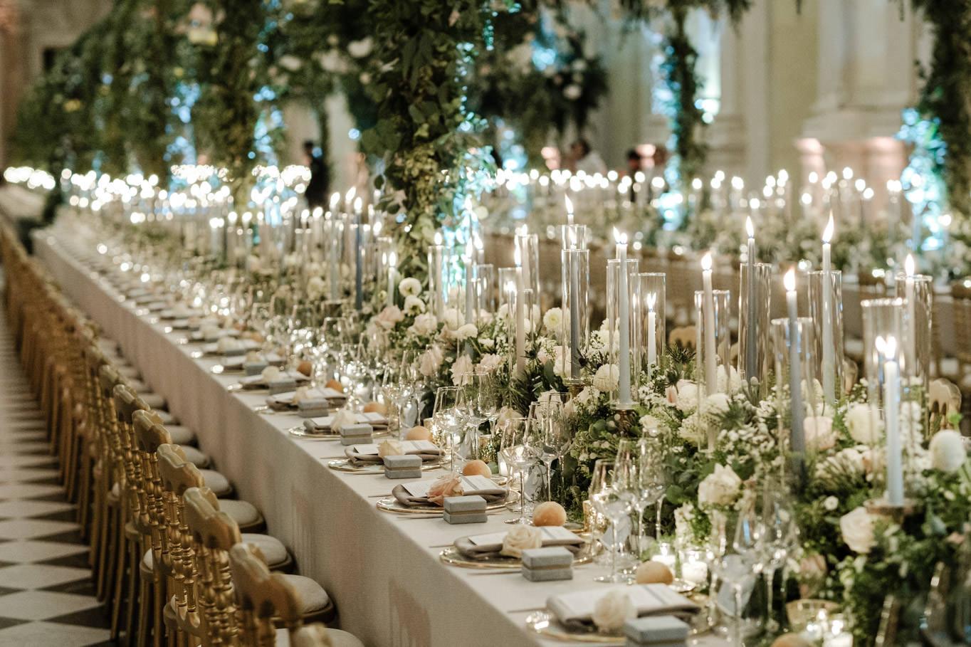 table setting reggia di venaria cristina chiabotto