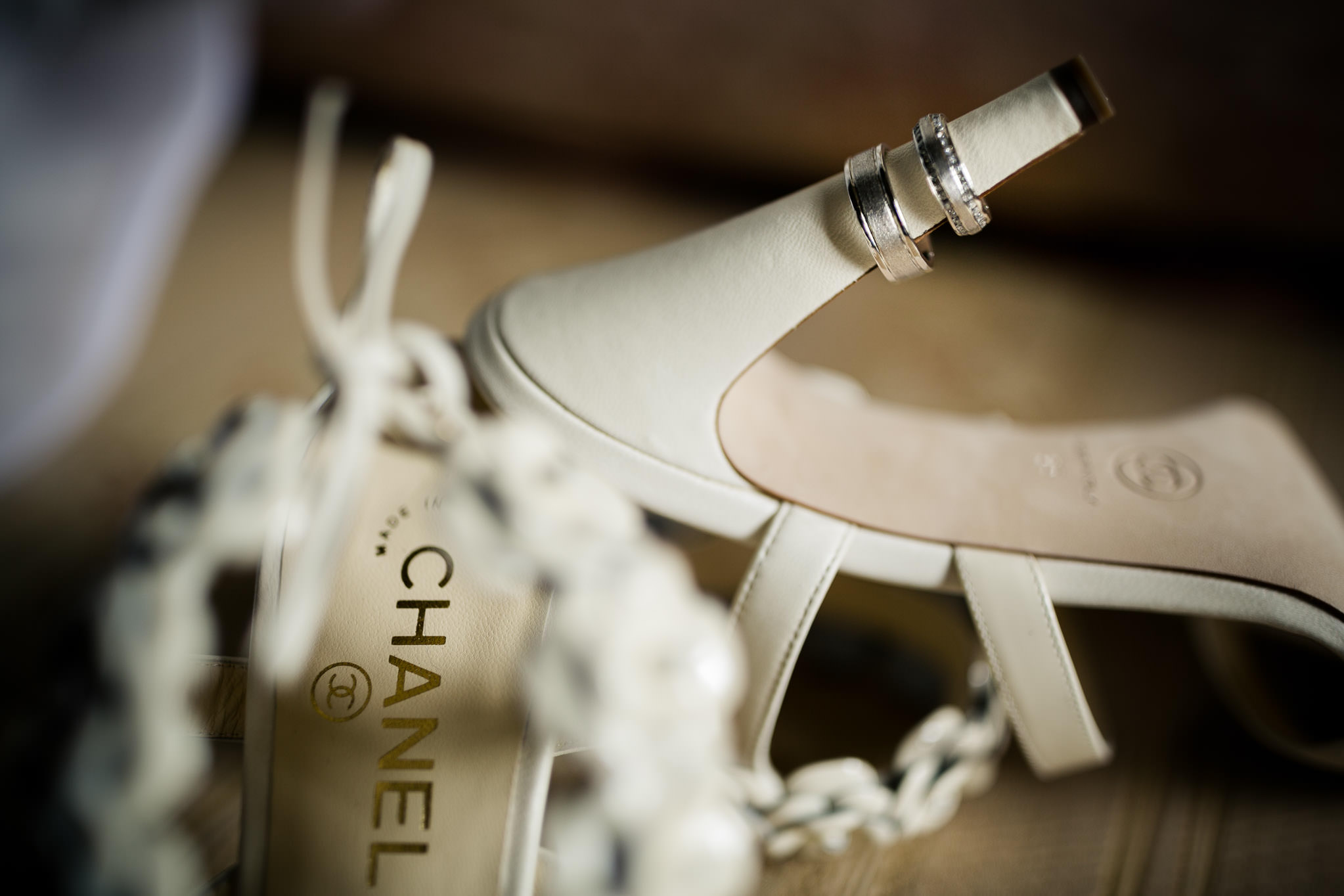 wedding shoes ring chanel