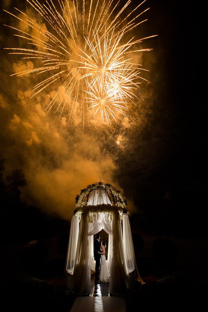 Chateau Challain fireworks wedding