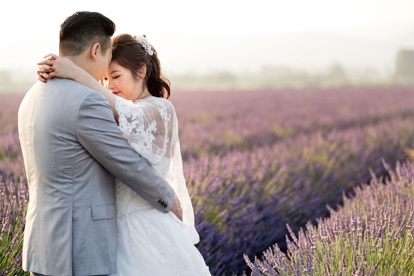 lavender pre wedding provence portrait